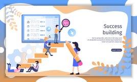 Successful Business Team Flat Vector Website vector illustration