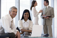 Successful business team of fo Stock Photos