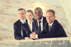 Successful business team. stock image
