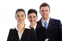 Successful business team isolated royalty free stock image