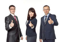 Successful business team. Isolated image Stock Photos