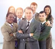 Head and confident business team Royalty Free Stock Photo