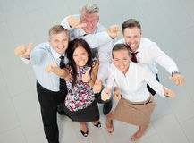 Successful business team laughing together Royalty Free Stock Images