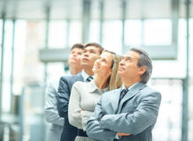 Successful business team - leader Stock Image