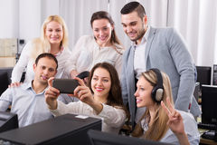 Successful business team making selfie Royalty Free Stock Images