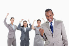 Successful business team with a man in the foreground Stock Photography
