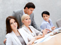 Successful business team at the meeting royalty free stock images