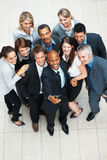Successful business team posing for photo Stock Images
