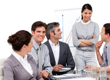 Successful business team during a presentation Stock Image