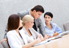 Successful business team at the presentation Royalty Free Stock Photography