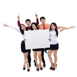 Success business team on white Stock Image