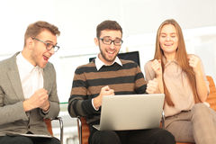 Successful business team received outstanding work Royalty Free Stock Photo