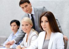 Successful business team at the seminar royalty free stock images