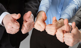 Successful business team showing thumbs up Royalty Free Stock Photography