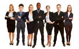 Successful business team as group. Successful business team stand together as group Royalty Free Stock Photo