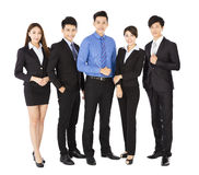Successful business team standing on white background Stock Images