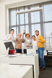 Successful business team with thumbs up Royalty Free Stock Images
