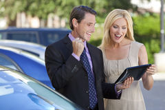 Successful Business Team Using Tablet Computer Stock Photography