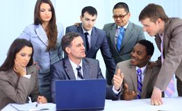 Successful business team working Stock Images