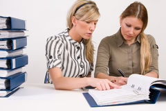 Successful business team working Royalty Free Stock Photos