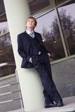 Successful business teen in street setting. Outdoor Royalty Free Stock Photography