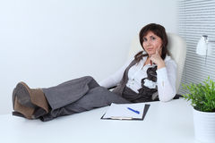 Successful business woman royalty free stock images