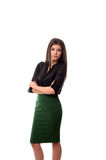 Successful business woman with arms folded Royalty Free Stock Image
