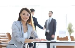 Successful business woman on the background of the office. Successful business women on the background of the office.photo with copy space Royalty Free Stock Photo