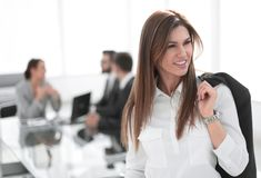 Successful business woman on the background of the office. Successful business women on the background of the office.photo with copy space stock images