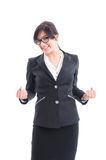 Successful business woman celebrating the victory Royalty Free Stock Photo