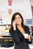 Successful business woman on coffe break Stock Image