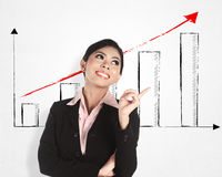 Successful business woman with computer Stock Photo