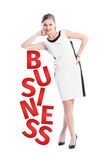 Successful business woman concept Stock Photos