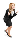 Successful business woman expressing happiness Royalty Free Stock Photo