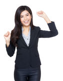 Successful business woman feeling excited Royalty Free Stock Photos