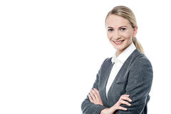 Successful business woman with folded arms Royalty Free Stock Photo