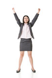 Successful business woman hands up Royalty Free Stock Photo