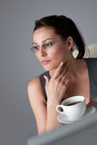 Successful business woman having coffee break Royalty Free Stock Photography