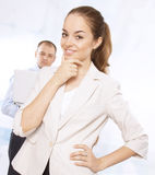 Successful business woman with her colleagues Royalty Free Stock Image