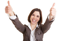 Successful business woman holds Stock Photography
