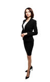 Successful business woman isolated over white Royalty Free Stock Images