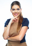 Successful business woman isolated portrait Royalty Free Stock Image