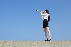 Successful business woman look Royalty Free Stock Image