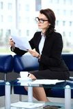 Successful business woman looking confident Stock Image