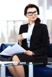 Successful business woman looking confident Stock Images
