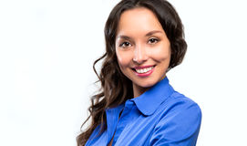 Successful business woman looking confident and smiling Stock Photography