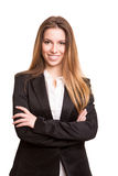Successful business woman looking confident and smiling Royalty Free Stock Image