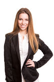 Successful business woman looking confident and smiling Royalty Free Stock Images