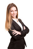 Successful business woman looking confident and smiling Stock Image