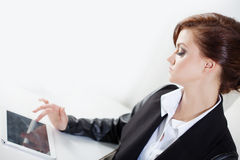 Successful business woman looking confident and Royalty Free Stock Photo